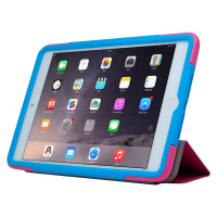Contrast Color Combo Leather Case Smart Cover For iPad Mini 2/3
