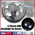 Hot sale! 40W 5.75 inch round headlight motorcycle led lights for Harley Davidson