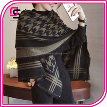 wholesale winter warm houndstooth scarf imitation cashmere tartan shawl scarf