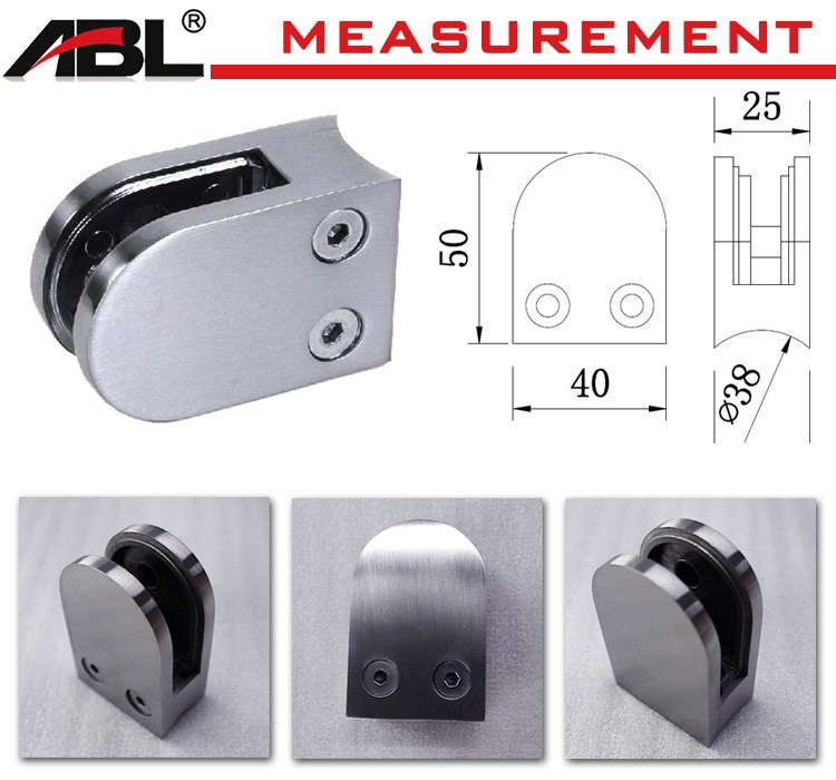 stainless steel glass d clamps