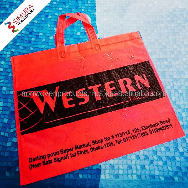 Reuseable Non-woven Shopping Bag with Flat Handle/ Non Woven