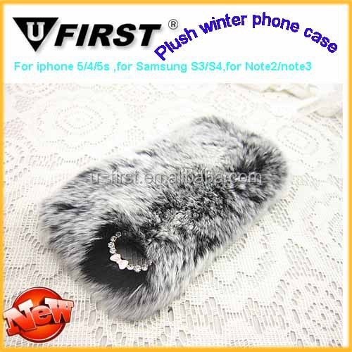 Newest Cat Design Plush Phone Case For Iphone,for samsung,mobile phone case factory