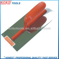 Plastic handle carbon steel or stainless steel bricklaying trowel