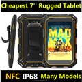 Cheapest 7 inch android rugged tablet PC 4core IP68 1.5 meter drrop proof dust proof rugged computer outdoor tablet computer