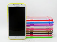 Hot selling top quality colorful TPU+PC smart phone case for samsung s6 edge plus
