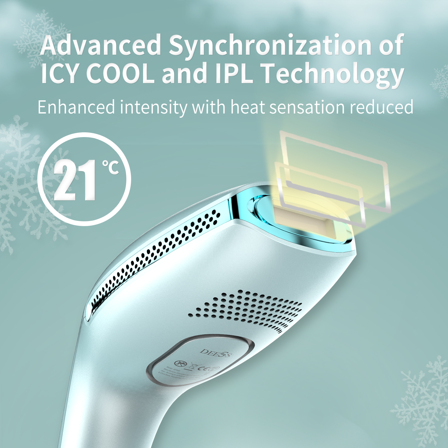 Amazon top seller 2019 DEESS 3 in1 home use ipl laser hair removal machine