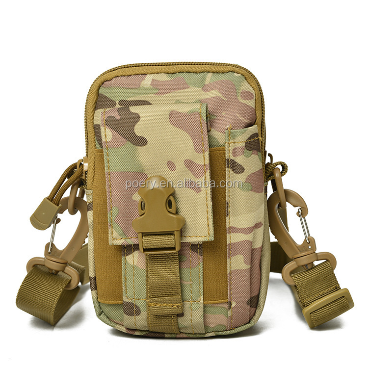 Updated Version Outdoor sports the molle tactical pockets male 5.5/6 inch waterproof phone bag WP07 from poeryoutdoor
