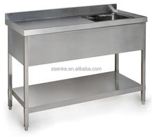 kitchen wash/#201 stainless steel single sink detachable washing table for sale