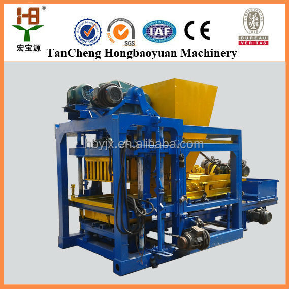 Top brand QTJ4-25 D Stationary type Concrete Block Making Machine,paver block making machine offers
