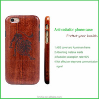Engraving wooden phone case for business man cell phone cover