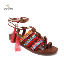 Summer style fashion lady women flat sandal shoes