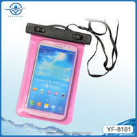 PVC waterproof smartphone bag for swimming fishing boating rafting driving