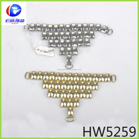 shoe charm accessory metal shoe buckle parts for sandal shoelace