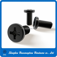 M2 M2.5 M3 cross recessed plated black Zinc laptop screws for computers