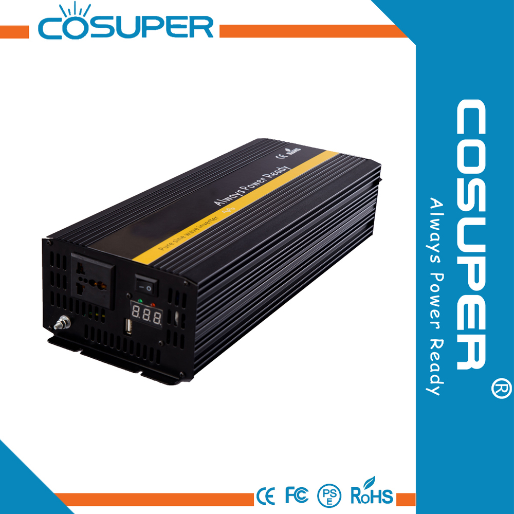2000w dc 12v ac 220v inverter for home/car/solar system pure sine wave