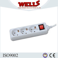 The Newest Type of european electrical extension socket with Switch