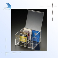 First class decor custom design table acrylic tea box