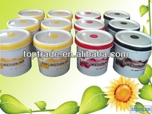 Alcohol solvent sublimation gravure ink