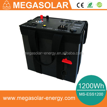 1200Wh mobile energy storage system with solar charing and AC grid charing function