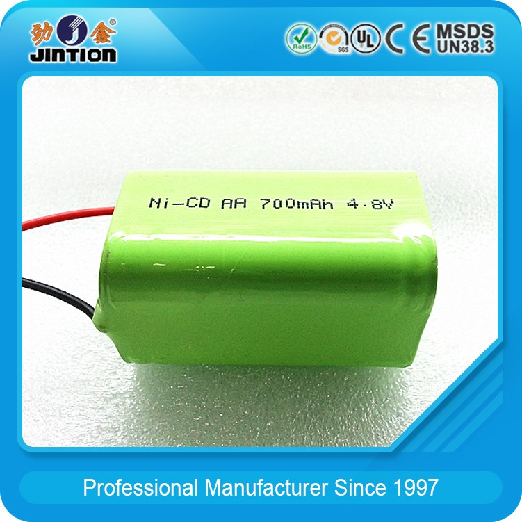 ni-cd aa 700 mah 4.8v Rechargeable battery pack