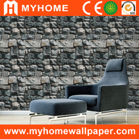 Specail design interior 3d wallpaper/ stone art room decorative PVC 3d stone wallpaper