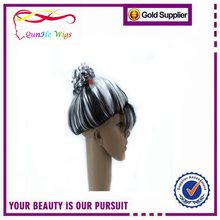 Customized Special Meatball Style Synthetic Fake Wigs