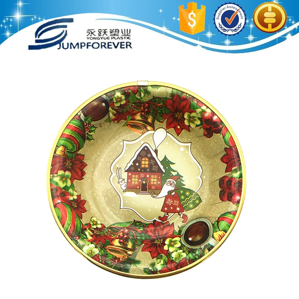 Household daily wholesale plastic serving tray/printing plastic plate /reusable hard plastic plates