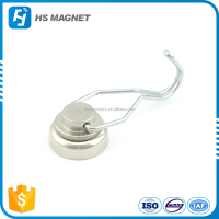 high precision customized strong thin neodymium magnet hook