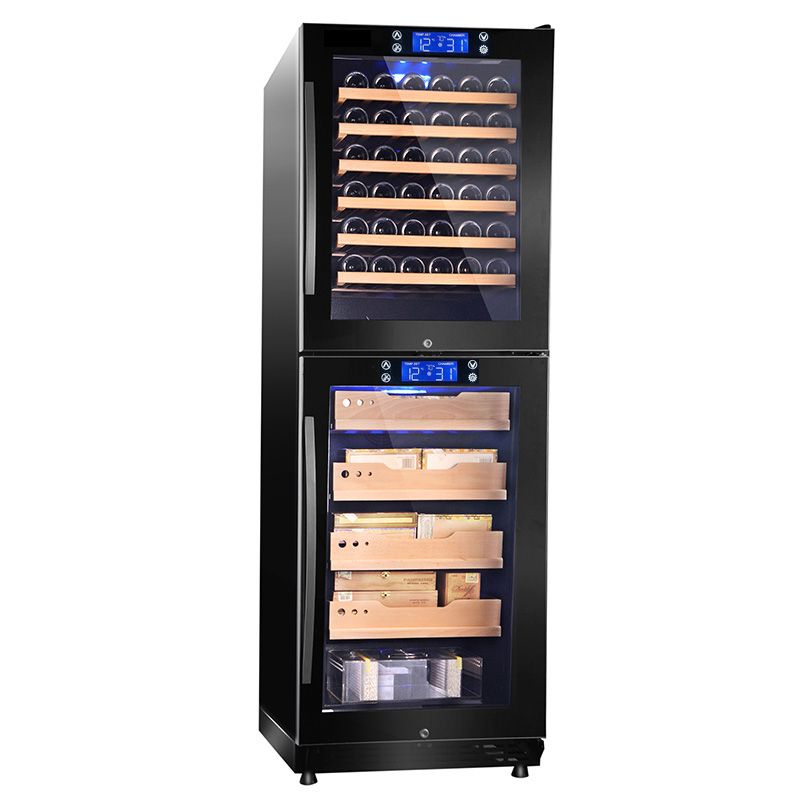 2017 New compressor large display wine cooler cigar humidor combo