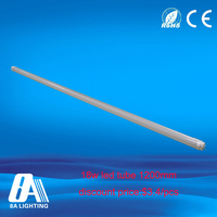 ce rohs approved aluminum + pc material led tube t8 18w 1.2m hot jizz tube