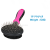 hot sale elastic head double side pin and bristle pet hair brush quality dog grooming brush