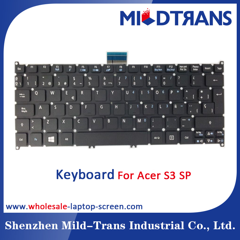 Factory price laptop keyboard for ACER S3 SP