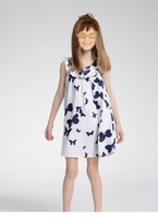2014 baby girl white black Butterfly dress 30pcs/lot 2- 8 years spain brand free shipping by ems