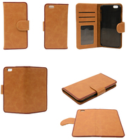 "case cover for iphone 7, 4.7"" Cheap PU leather mobile phone protective flip cases"