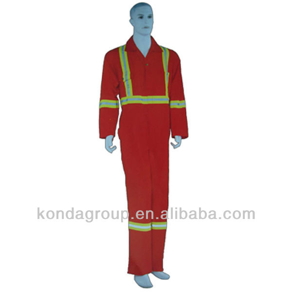 2013 FLYTON new flame retardant coverall/pant&shirt long sleeve/cvc fire retardant workwear with reflective tape