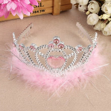 Fashion plastic color stone Princess Tiaras and Crowns for girls