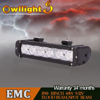 autoparts Waterproof E-mark LED Bar Lights 60W led work lamp 11 Inch LED Driving Light Bar for Auto 4wd Car Accessories