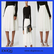 Designer pleated fashion long skirt, long skirts joker beautiful veils smoke plait design