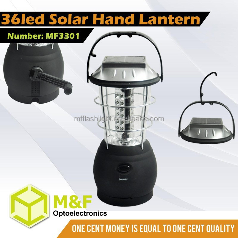 36leds Rechargeable Solar Panels Hand Crank Hurricane Lamps And Lanterns