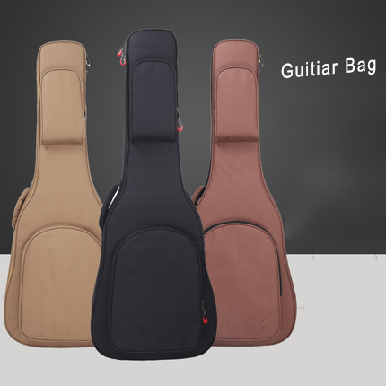 Waterproof Guitar Bag Pad Cotton Thickening Backpack Double Straps Soft Bag for 41 Inch Guitar Gig Bag G-02