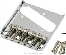 chrome plated small steel bridge for guitar kit