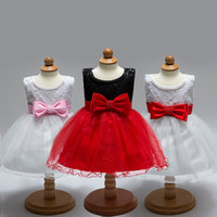 New Fashion Children Frocks Designs Kids Party Wear Girl Dress Beaded Sequins Sparkles Pageant Dresses L1833XZ