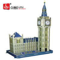 LITU 3D PUZZLE/JIGSAW PUZZLE/EDUCATIONAL/EDUTAINMENT_world's famous landmark / architecture / building_Big Ben Style No.1222