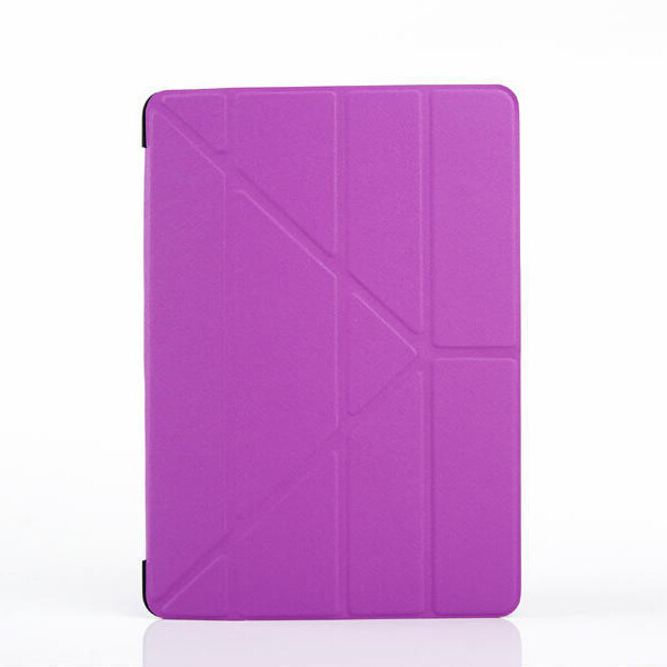 For iPad Air 2 Smart Case Transformer Folding Cross Pattern Cover For iPad 6