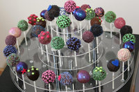 lovely acrylic round shape sweat candy lollipop display stand from china