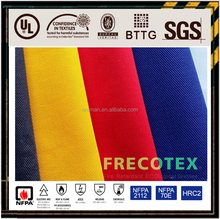 EN11611 certificate Green CVC proban finished Fireproof Fabric cotton fabric OEM manufacture