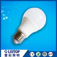 plastic aluminum 7w led E27 day night light led bulb