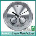 12inch aluminium dial car clock with thermometer
