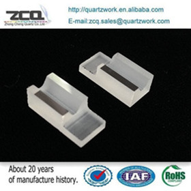 CNC Machined V shape groove quartz glass Part