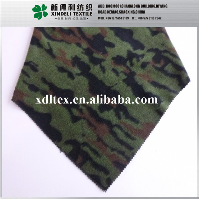 Hot selling green jacquard neoprene wool camouflage fabric
